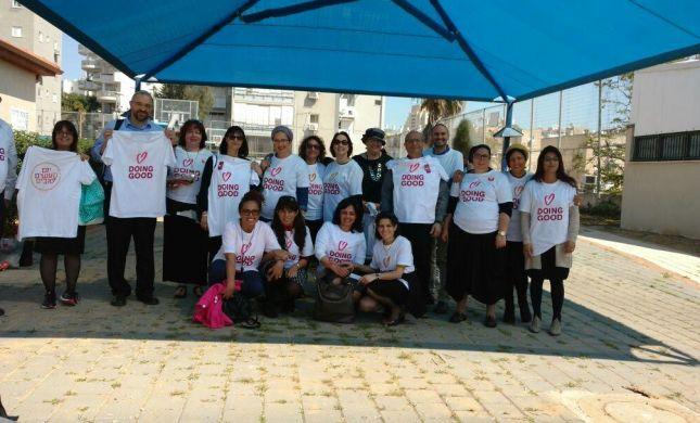 """יום של חסד: פיקוח החמ""""ד במחוז מרכז יצא להתנדבות עם מנהיגות צעירה מראשון לציון"""