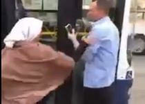 """צפו: """"ארצח אותך"""": אישה דתיה מכה נהג אוטובוס בת""""א"""