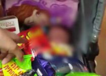 תיעוד: ניסו לגנוב מוצרים בעגלה, התינוק כמעט נחנק