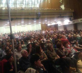מופע, תרבות אירוע האזכרה ליאיר שטרן: מאות נאלצו להשאר בחוץ