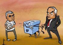קריקטורה: בגלל התאגיד נתניהו מאיים בבחירות