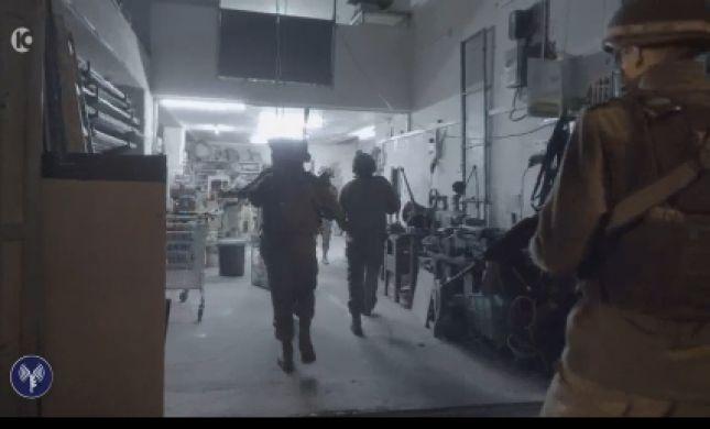 """צפו: צה""""ל פושט על מפעל לייצור נשק בשטחים"""