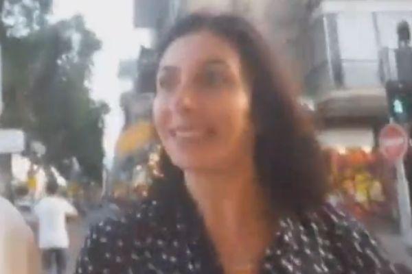 """""""סמרטוטה, זבל"""": רגב הותקפה בתל אביב. צפו"""