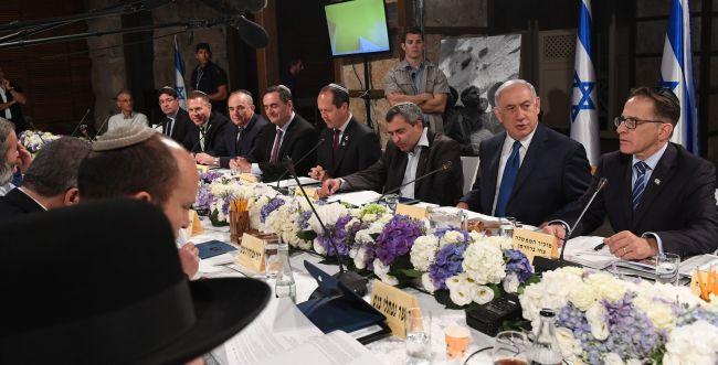 צפו: ישיבת הממשלה נערכה במנהרות הכותל