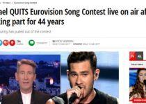 """העולם מדווח: """"ישראל פורשת מתחרות האירוויזיון"""""""