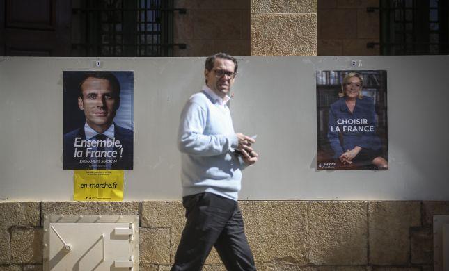 סיבוב מכריע בבחירות בצרפת: מקרון או לה פן