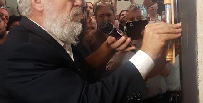 הרב מרדכי אלון חנך בית מדרש חדש בירושלים