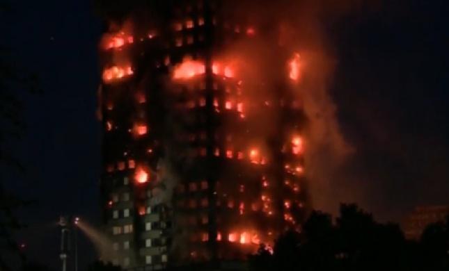 לכודים ופצועים: שריפת ענק במגדל מגורים בלונדון