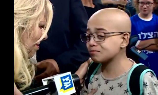 צפו: מפגש קורע לב בין שרה נתניהו לילד חולה