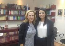 השרה שקד נפגשה עם השחקנית היהודייה מרלי מטלין