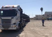 סכנת נפשות: משאית באורך 31 מטר בכביש 6. צפו