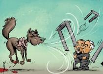קריקטורה: נתניהו מתקפל בנושא המגנומטרים