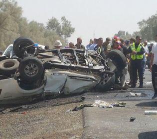 חדשות, חדשות בארץ, מבזקים תאונה קשה: 5 פצועים בהתהפכות רכב ליד תקוע
