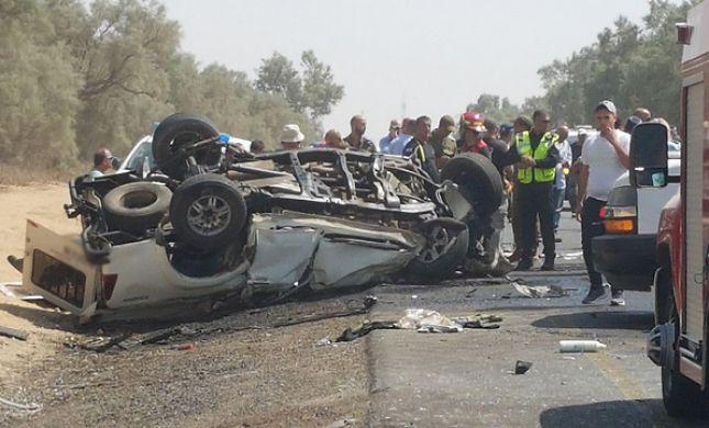 תאונה קשה: 5 פצועים בהתהפכות רכב ליד תקוע