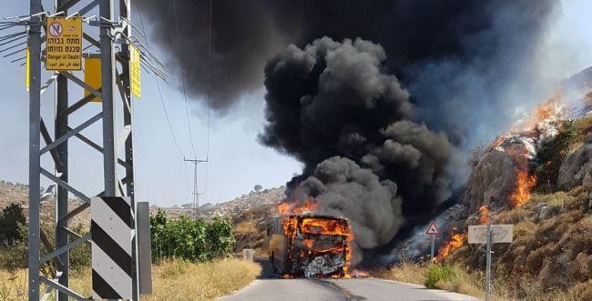 בדרך לקייטנה האוטובוס של הילדים עלה באש