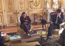 צפו: הכלב של הנשיא מקרון עושה פדיחות באמצע ישיבה
