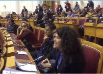 צפו: משלחת הכנסת יוצאת במחאה מהמליאה ברוסיה