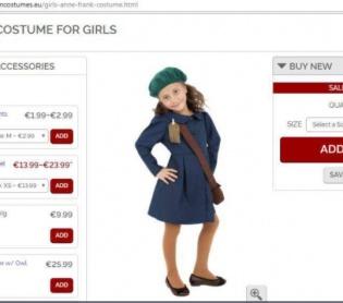 אופנה וסטייל, סרוגות ביזיון: תחפושות של אנה פרנק נמכרות לחג נוצרי