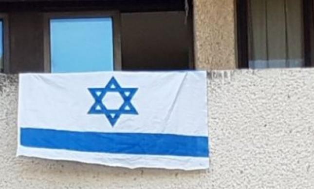 אחרי הסערה: רגב התערבה; דגל ישראל  נתלה מחדש