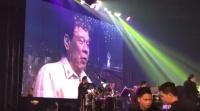 ויראלי לבקשת טראמפ: נשיא הפיליפינים שר דואט