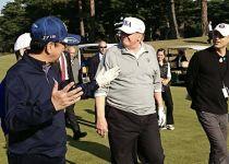 התחנה הראשונה של טראמפ ביפן:  משחק גולף עם ראש הממשלה