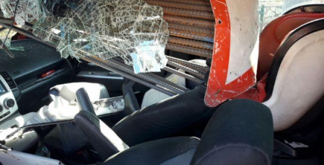 נס: ברזלים שיפדו את כיסא התינוק ברכב. תיעוד