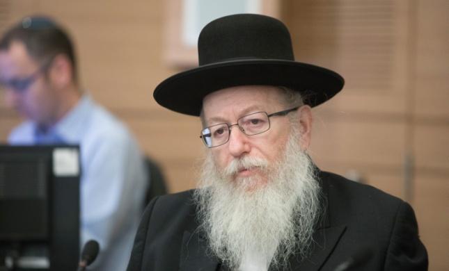 ביום ראשון יעקב ליצמן יתפטר מהממשלה