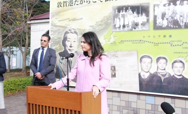לראשונה,השרה שקד ביקרה בעיר שהצילה 6,000 יהודים