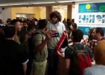 צפו: עימות אלים בין סטודנטים יהודים וערבים