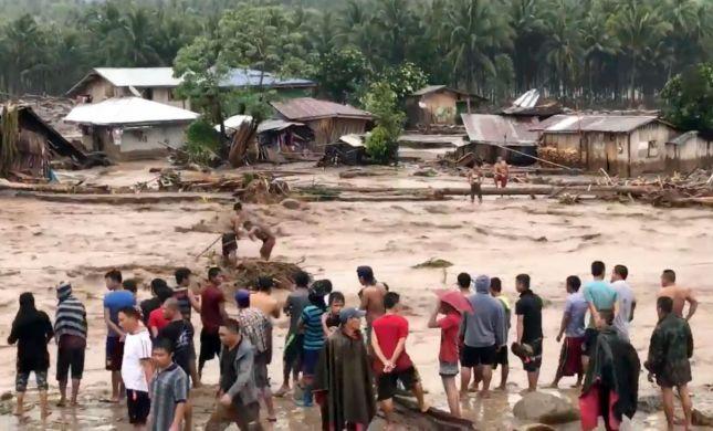 לפחות 240 הרוגים בסופה קטלנית בפיליפינים