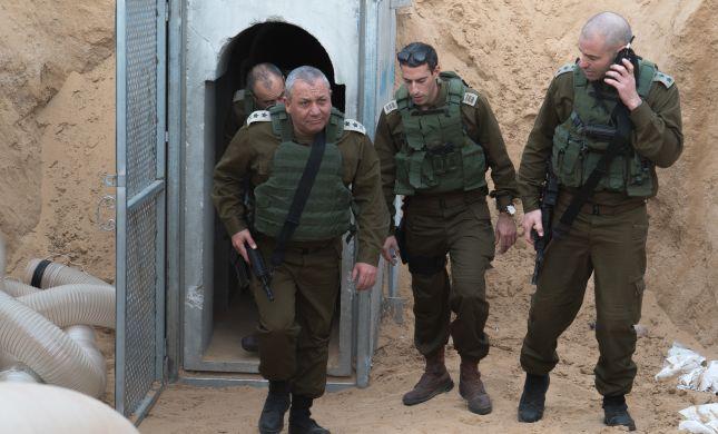 """הרמטכ""""ל במנהרת הטרור שנחשפה ברצועה. צפו"""