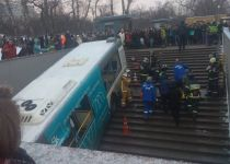 צפו: חמישה הרוגים בתאונת אוטובוס במוסקבה