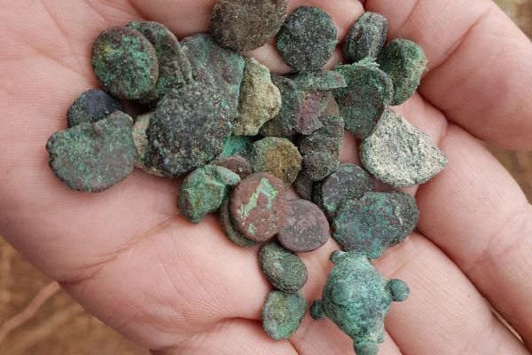 בדרום נתפס שודד עתיקות עם מטבעות בני 1,500 שנה
