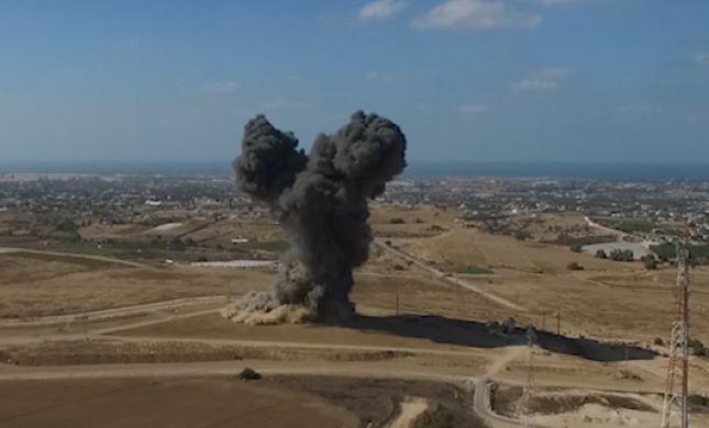 """תיעוד מיוחד: צה""""ל משמיד מנהרה בשטח ישראל. צפו"""