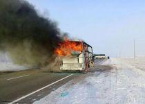 אסון בקזחסטן: 52 הרוגים בשריפת אוטובוס