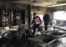 בגלל תקלה במזגן: בית כנסת נשרף כליל