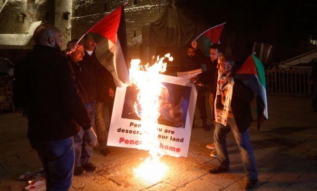 זעם ברשות הפלסטינית בעקבות ביקור פנס בכותל