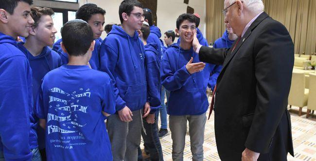 """הנשיא אירח את תלמידיו של הרב איתמר בן גל הי""""ד"""