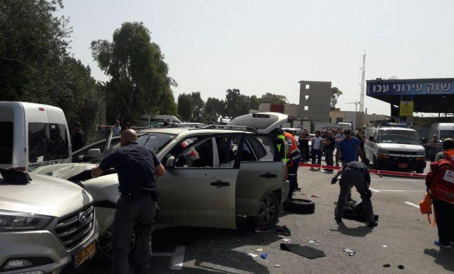 פיגוע דריסה ליד תחנת הרכבת בעכו; המחבל נורה