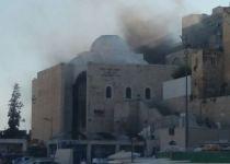 ארבעה צוותי כיבוי פועלים בשריפה בישיבת פורת יוסף