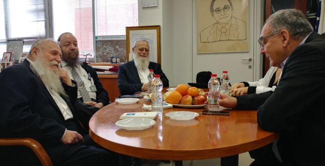 פגישה בין רבני הציונות הדתית לבית החולים הדסה