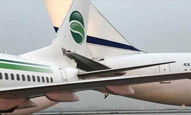 """דרמה בנתב""""ג: שני מטוסים התנגשו על הקרקע"""