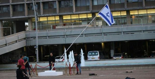 'פרובוקציה': רגב נגד המיצג האומנותי שהוצב בכיכר רבין