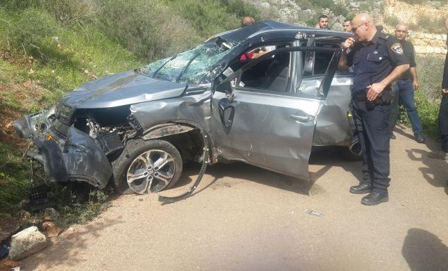 4 תושבי ירכא נפצעו לאחר שרכבם סטה מהכביש