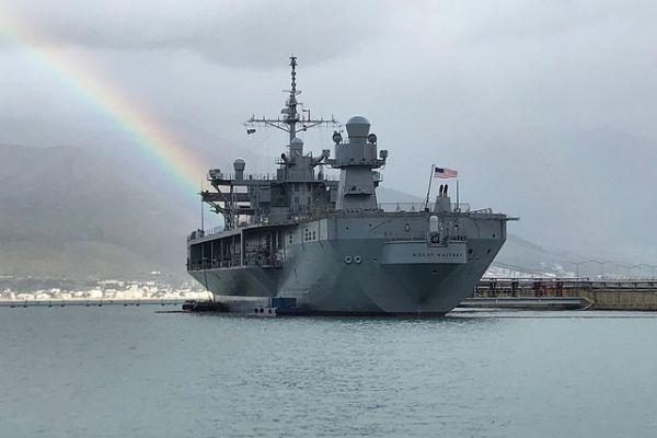 ספינת חיל הים האמריקני הגיעה לביקור בישראל