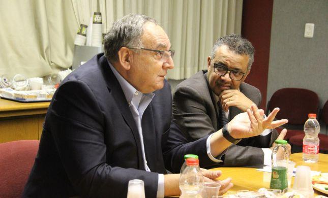 """ביקור מפתיע: מנכ""""ל ארגון הבריאות העולמי בהדסה"""