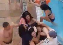 צפו: מציל ביקש מילדה לצאת מהבריכה- והותקף