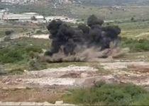 צפו: פיצוץ אדיר של שדה מוקשים סמוך לקרני שומרון