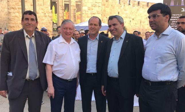 זירת שחמט ענקית בירושלים עם אלופי העולם