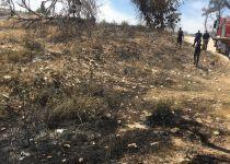 שריפת חורש סמוך להר ברכה; כבאים במקום